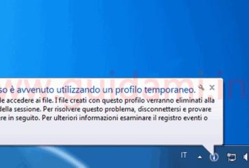 Errore profilo temporaneo Windows