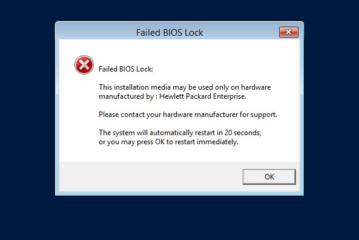 Installare Windows Server con supporto ROK su ESX ( Failed BIOS lock )